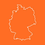 Germany Map in line style on isolated background. Vector illustr Royalty Free Stock Image