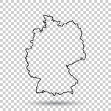 Germany Map in line style on isolated background. Vector illustr Royalty Free Stock Photos