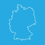 Germany map in line style. Royalty Free Stock Images