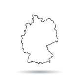 Germany map in line style. Royalty Free Stock Photos