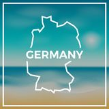 Germany map rough outline against the backdrop of. Stock Image