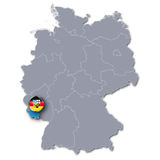 Germany map with the Saarland Stock Image