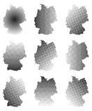Germany map set halftone vector symbol icon  design. illustration  on white background. Stock Photo