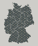 Germany map with stars and ornaments including borders. Illustration Royalty Free Stock Image