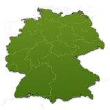 Germany map with states Stock Photos