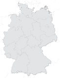 Germany map with states Stock Images