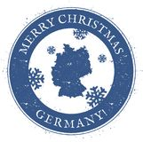 Germany map. Vintage Merry Christmas Germany. Germany map. Vintage Merry Christmas Germany Stamp. Stylised rubber stamp with county map and Merry Christmas text Stock Photo