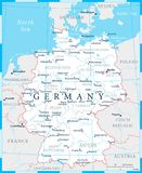 Germany Map - White and Grid - Highly detailed vector illustration. Germany Map - White and Grid - detailed vector illustration vector illustration