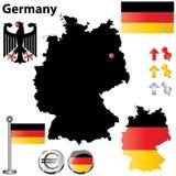 germany mapa Zdjęcia Royalty Free