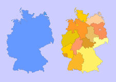 germany mapa Obraz Royalty Free