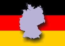 germany mapa Zdjęcie Stock