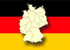 germany mapa Zdjęcia Stock