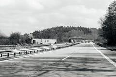 German highway autobahn Royalty Free Stock Photo