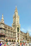 germany marienplatz munich Royaltyfri Bild