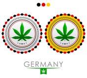 Germany marijuana emblem Stock Image