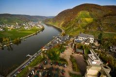 germany mosel flod arkivbild