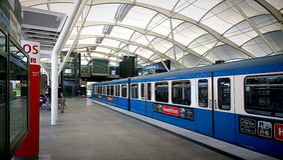 Germany, Munich-Froettmaning metro station Royalty Free Stock Photography