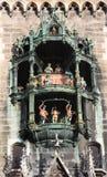Germany, Munich, Marienplatz, New Town Hall. Germany, Munich, Marienplatz,new Town Hall clock with moving figures Royalty Free Stock Image