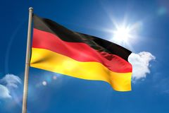 Germany national flag on flagpole Stock Photography