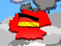 Germany with national flag Stock Photography