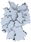 Germany national map Deutschland states 3D. Map of Germany sixteen states German republic Deutschland royalty free illustration