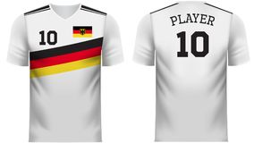 Germany Fan sports tee shirt in generic country colors. Germany national soccer team shirt in generic country colors for fan apparel vector illustration