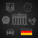 Germany national and travel icons Stock Image