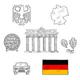 Germany national and travel icons Royalty Free Stock Photography