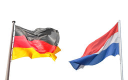 Germany and Netherlands flag Royalty Free Stock Photo