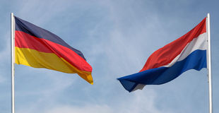 Germany and Netherlands flag Royalty Free Stock Image