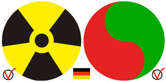 Germany and the nuclear policy after Fukushima Royalty Free Stock Photos