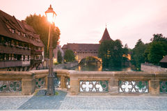 Germany, Nuremberg, Max Bridge Stock Photos