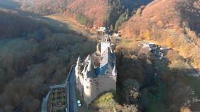 Germany old castle from the air stock footage