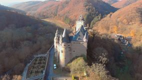Germany old castle from the air.  stock video