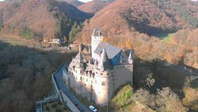 Germany old castle from the air.  stock footage