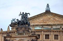 germany Operahuset i den Dresden Semper operahuset på teaterfyrkanten i Dresden 16 Juni 2016 Arkivbild