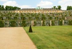 germany Palácio e parque em Potsdam imagens de stock