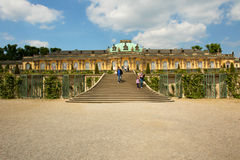 Germany.Palace and park in Potsdam. Germany.Sanssouci Palace - Potsdam.Palace and park in Potsdam.Group of palace complexes and landscaped gardens found in Royalty Free Stock Photos