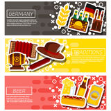 Germany panorama scenery banners concept Royalty Free Stock Images