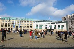Germany. Paris square in Berlin. February 16, 2018 stock image