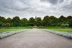 Germany. Park on a rainy day. Munich Stock Images