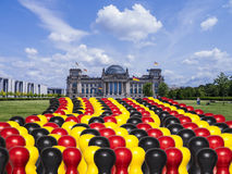 Germany parliament and figures. In black, red gold Royalty Free Stock Images