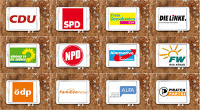 Germany parliamentary political party logos icons Stock Photo