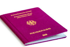 Germany passport white background. Close up Stock Photography