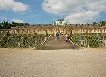 Germany-Podstam,May 2016.The palace complex and the royal garden Royalty Free Stock Images