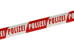 Germany Police Line Royalty Free Stock Images
