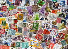 Germany postage stamps background Stock Photos