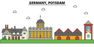 Germany, Potsdam. City skyline architecture . Editable Stock Photography