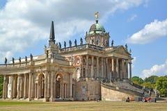 germany Potsdam Czerep kolumnada i Nowy pałac kampus Potsdam uniwersytet w letnim dniu Park San Sus obrazy stock