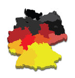 Germany Province Map Stock Images